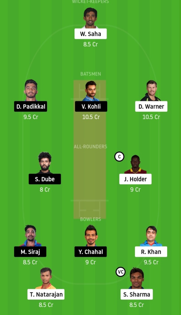 SRH vs MI Dream11 Match Prediction Crickinfo