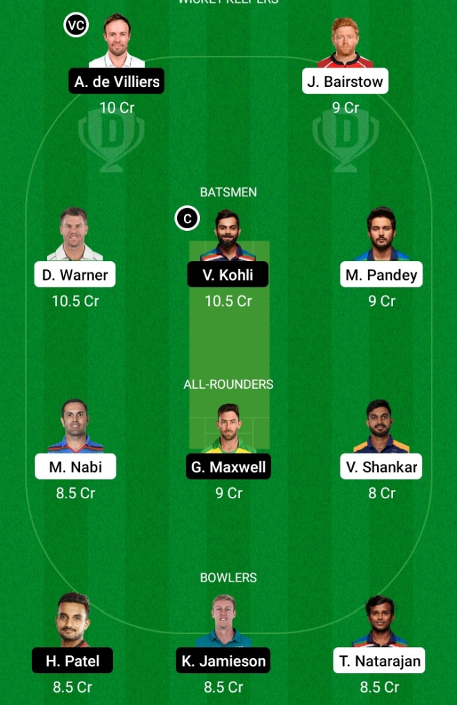 Sunrisers Hyderabad vs Royal Challengers Banglore, SRH vs RCB Dream11 Team Prediction, SRH vs BLR Dream11 Prediction, BLR vs MI Dream11 Prediction, SRH vs RCB Pitch Report, MI vs RCB Team Squad, MI vs RCB Playing11, Key Players, Captaincy Options, Small League Team, IPL 2021, Live Score, Live Match, IPL Match Preview, Fantasy Tips, IPL 2021, Today Team Prediction, Grand League Team, Dream11, SRH vs RCB Today IPL Team,