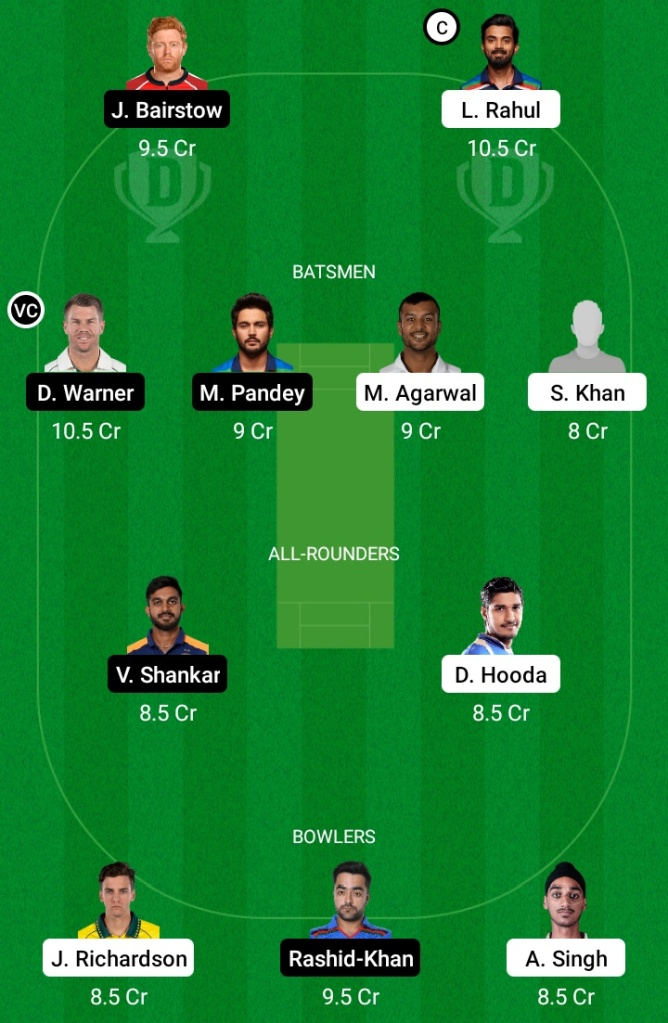 Punjab Kings vs Sunrisers Hyderabad, PBKS vs SRH Dream11 Team Prediction, SRH vs PBKS Dream11 Prediction, Pitch Report, Team Squad, PBKS vs SRH Playing11, Key Players, Captaincy Options, Small League Team, IPL 2021, Live Score, Live Match, IPL Match Preview, Fantasy Tips, PBKS vs SRH IPL 2021, PBKS vs SRH Today Team Prediction, Grand League Team, Dream11, Today IPL Team, Batting Order,